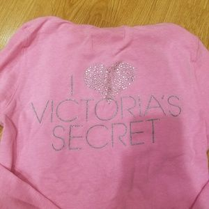 Victoria's Secret Tops - Pink Victoria's Secrent Model Hoodie