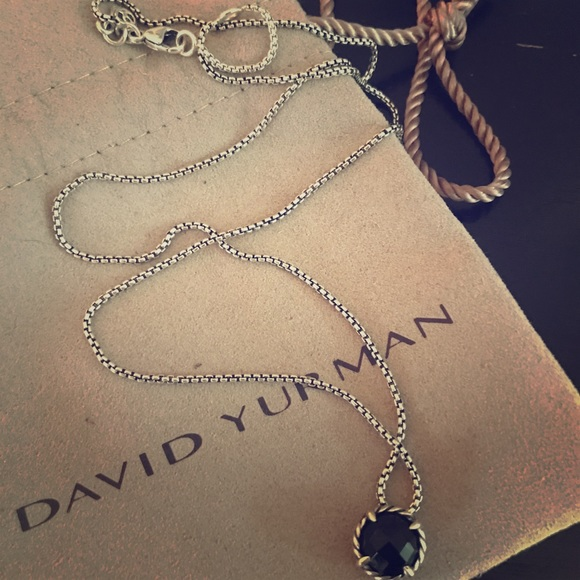 DAVID YURMAN Sterling Silver Chatelaine Pendant Necklace With 18K Gold NWOT