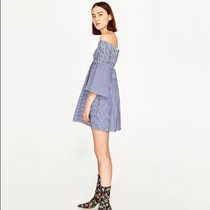 Zara Stripe Off the Shoulder Dress/Tunic