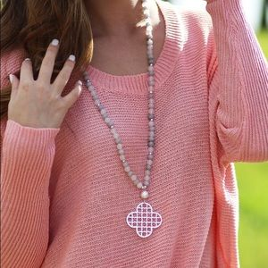 Marley Lilly Pink Clover Necklace
