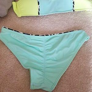 Swim - Neon strapless bikini
