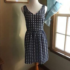 NEW Vineyard Vines Navy/White A-Line Dress Sz 6