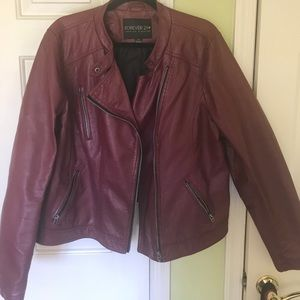 Forever21 Plus Faux Leather Jacket
