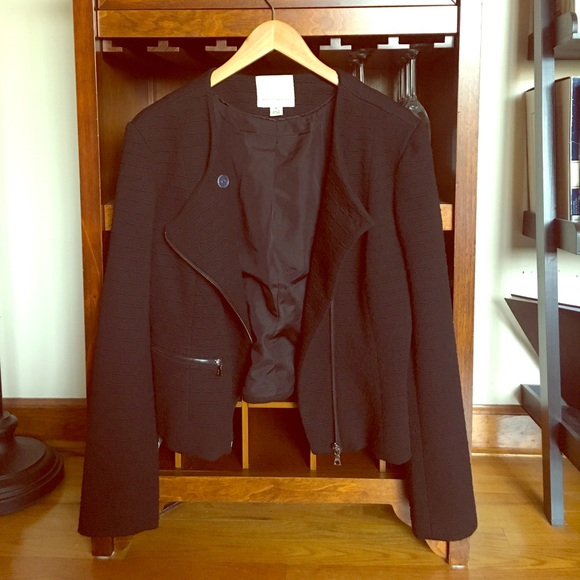 Mercer & Madison Jackets & Blazers - Black asymmetrical moto jacket