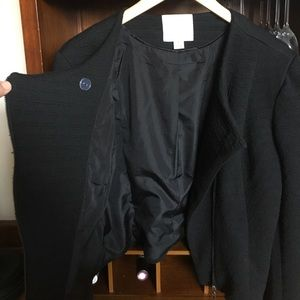Mercer & Madison Jackets & Coats - Black asymmetrical moto jacket