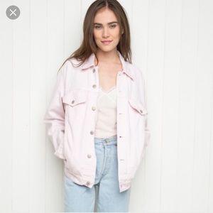 Brandy Melville pink denim jacket