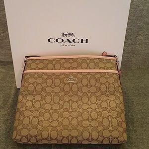 Coach brand jacquard file bag