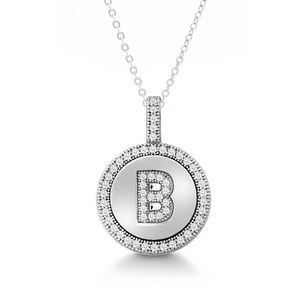 "Jewelry - A to Z Sterling Silver CZ Necklace with 18"" Chain"