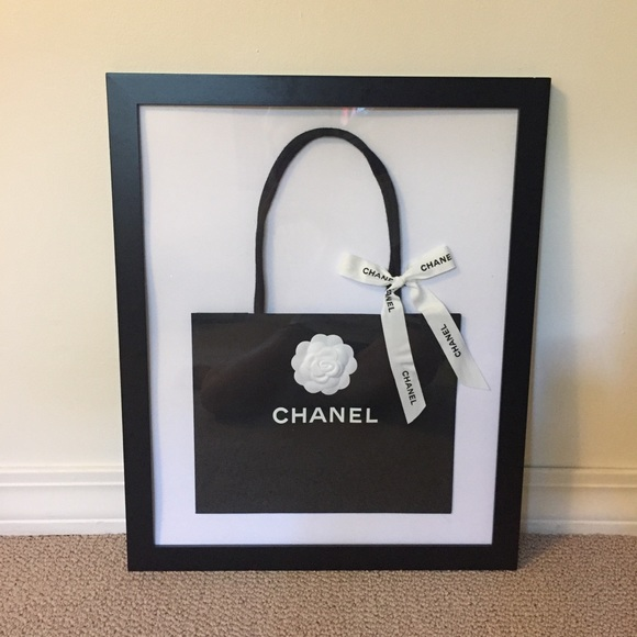 CHANEL Other | Authentic Black Bag And 18x20 Frame | Poshmark