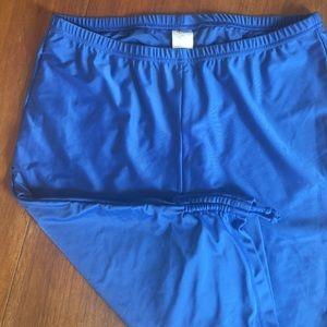 UV Skinz Blue UPF 50 Swim Capris Adjustable Length