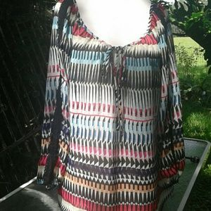Sunnyleigh beautiful boho print top petite large