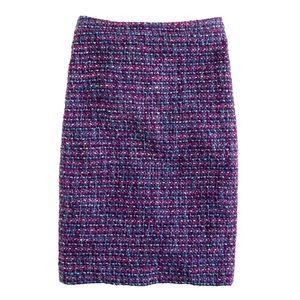 J CREW No. 2 pencil skirt in multicolor tweed