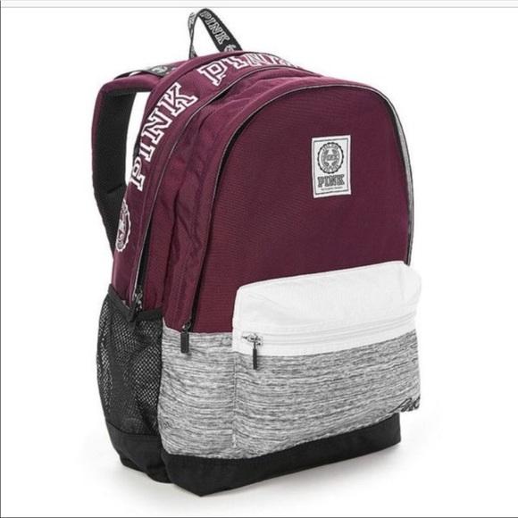 PINK Victoria s Secret Bags   Sellingvs Pink Burgundy Backpack ... d5b43e2714