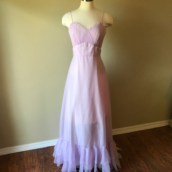 Vintage Dresses Ilgwu Pastel Purple Formal Dress Poshmark