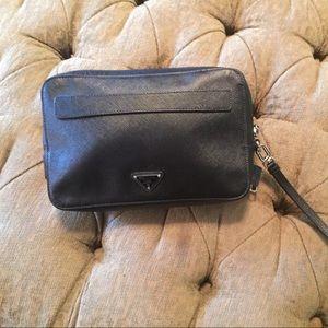 c4ebb9165f17 ... coupon for prada bags nwot prada saffiano black leather clutch 1237f  5dd2c
