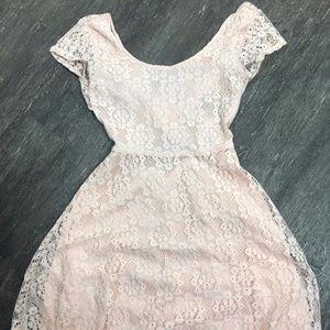 Charlotte Russe blush lace dress