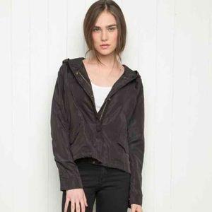 Brandy Melville black windbreaker jacket