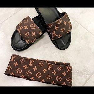 Shoes - Custom Lv slippers