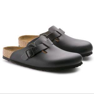 Birkenstock Boston black smooth leather, 40 Narrow