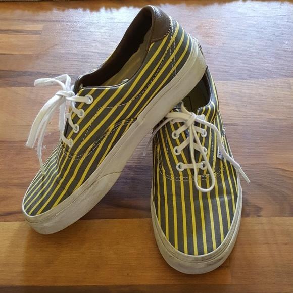 98fe517d76 Grey   Yellow Striped Vans. M 5980b7e378b31ccf6a15394b