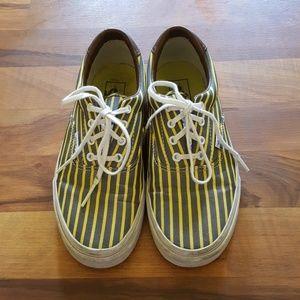 9d7a0963cd Vans Shoes - Grey   Yellow Striped Vans