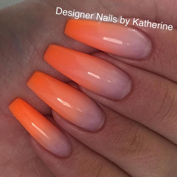 Designer Nails By Katherine Accessories Ombr Uv Gel Coffin Nails