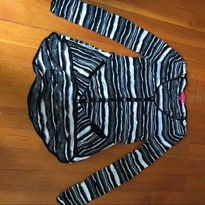 Betsey Johnson button-up sweater