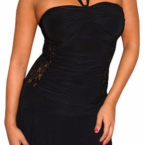 Like new Med Black dress with lace side cutouts
