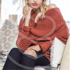 SYDNEY sweater top - BRICK