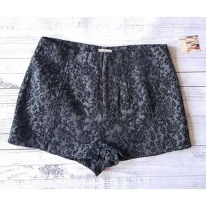 Pins and Needles High Waist Jacquard Shorts Sz 0