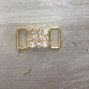 Other - Gold/Crystal Bikini Connector