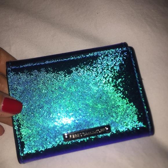 a9f0ed31782 Rebecca Minkoff Blue Small Iridescent Wallet. M_5980c6a7d14d7bf7f9157746