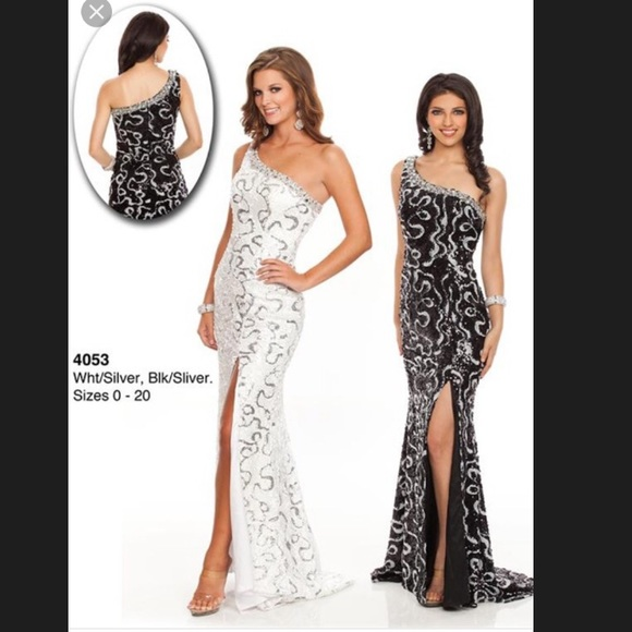 50d4d9dc1755a Wow Prom & Pageant Dresses   Black Silver Sequin Long Formal Dress ...