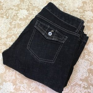 White House Black Market Black Trouser Leg Jeans