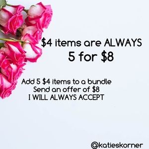 5 for $8