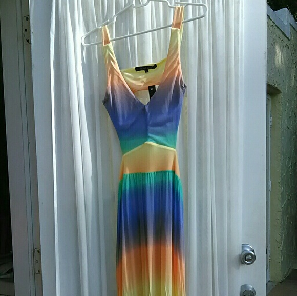 Ocean Drive Dresses - Ombre Tie Die Backless Summer Maxi Dress