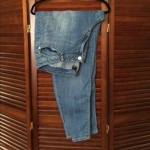 Plus size gold Polk a dot short jeans