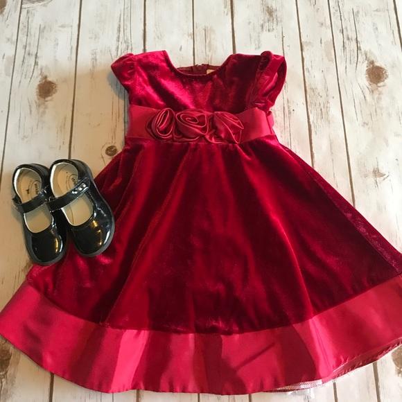 29e5a60b7be Toddler Girl 2T Red Velvet Dress- Rare Editions. M 5980d85bd14d7bba0c15c84a