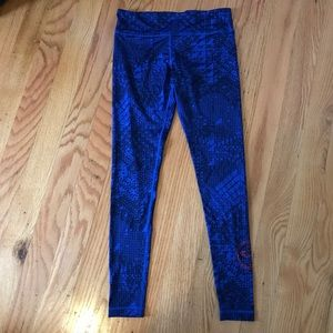 "Zumba Fitness ""Spicy"" blue leggings - Size S"