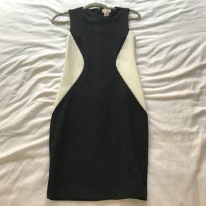 Dresses & Skirts - Black & White Colorblock Bodycon Dress