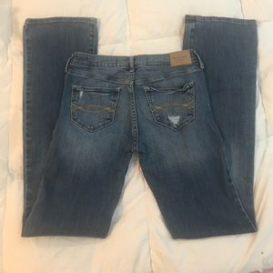 Abercrombie Distressed Bootcut Jeans