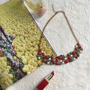 Multicolor Jemstone statement necklace
