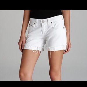 NEW True Religion Jayde White Shorts Sz 29