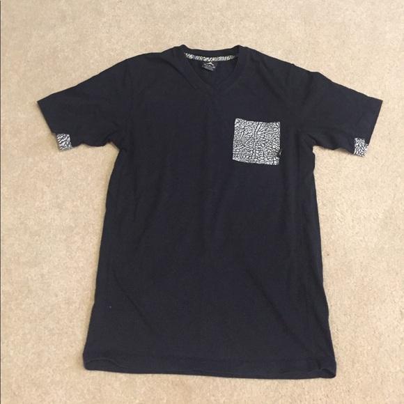 V Camo Jordan Neck Tee Shirt Pocket 4L5q3RAj