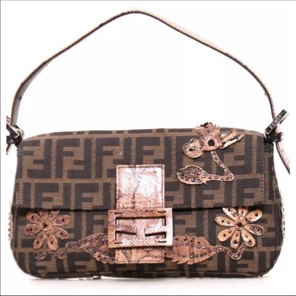 64a6e94611b Fendi Bags | Authentic Ff Logo Brown Zucca Baguette Bag | Poshmark
