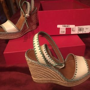 NIB Valentino wedges size 351/2 sale