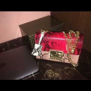 SelfMadeBabes.com Bags - Red & Pink Python Genuine Leather Bag