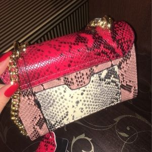 SelfMadeBabes.com Bags - Red & Pink Python Genuine Leather Bag