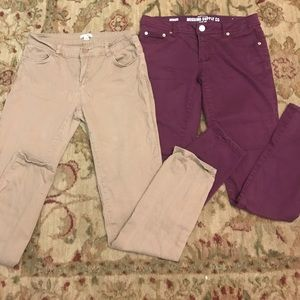 Mossimo & Timing brand skinny jeans lot size 7