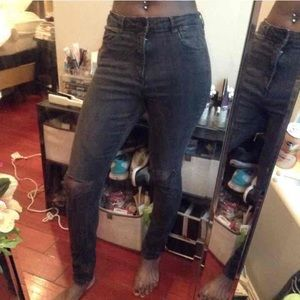 High waisted H&M Black Skinny Jeans